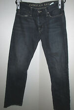 Men's American Eagle distressed Straight Dark Blue Jeans tag 30x32 actual 31x31