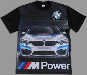 BMW M POWER Polo T-shirt T shirt chemise Homme Broderie Sublimation Fait en EUR