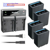 Kastar Battery Dual Fast Charger for CGA-D54 & Panasonic AG-HPX250P AG-HPX250PJ