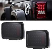 Lens LED fumée Feux Arrière Lampe brouillardein Pour Jeep Wrangler JK 07-16 BA
