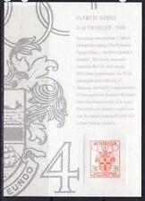 AUSTRALIA SRC24 1992 STAMP REPLICA CARD WITH 1956 OLYMPICS MINT