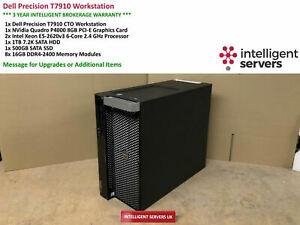 Dell T7910 Workstation  Xeon E5-2620 V3 2.60GHz 128GB 1TB SATA  500GB SSD  P4000