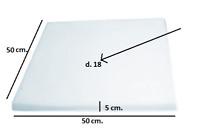 Spugna Gommapiuma 50x50x5 densità 18 poliuretano Espanso tappezzeria imbottiti
