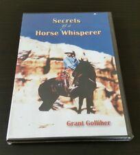 Secrets Of A Horse Whisperer (DVD) Grant Golliher equestrian training RARE NEW