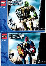 LEGO SETS 8793 & 8794 - SIR RASCUS & SIR SANTIS, (CASTLE-KNIGHTS KINGDOM 2)
