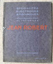 JEAN ROBERT CAR ACCESSORIES CATALOGUE FRENCH 1923 BEARINGS LAMPS HORNS BATTERIES