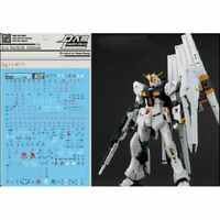 Water Slide Decal Stickers Kit For Bandai RG 1/144 RX-93 Nu Gundam Gunpla Model