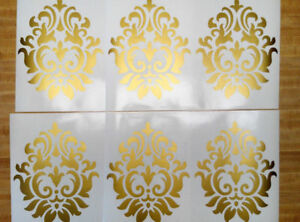 10 Damask Flourish Vinyl Wall Decal Graphics Living Room removable wallpaper