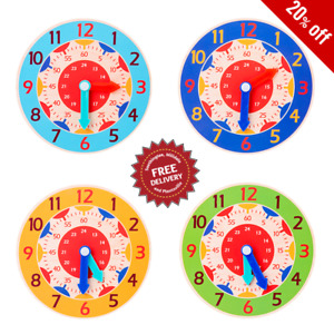 Children Teaching Clock Learning To Tell Time Magnetic Back Educational New 2020
