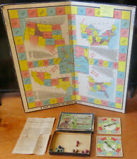 Seldom Seen ©1895 Board Game Trip Through The United States Educational Game Co.