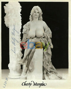 CHESTY MORGAN LEGEND WHAT A CHEST SIGNED 8x10 DEADLY WEAPONS reprint