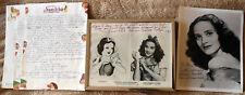 Adriana Caselotti, Voice of Snow White Original Hand Signed Photos and Papers