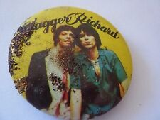 ROLLING STONES ,Mick Jagger and Keith Richards Vintage 1970's  Button Badge 2¼