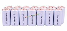40x Sub C SubC With Tab 6000mAh 1.2V Ni-MH White Color Rechargeable Battery USA