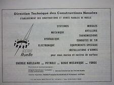 1980 PUB ECAN RUELLE DTCN CONSTRUCTION ARME NAVALE CHARENTE ORIGINAL AD