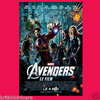 MARVEL THE AVENGERS ASSEMBLE 8 CAST SIGNED AUTOGRAPH MOVIE POSTER A3 297 x 420mm