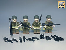4 x WW2 Figurines Soldats US WW2 compatible Lego©