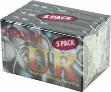 NEW Maxell UR90 90 Minutes Blank Audio Media Recording Cassette Tapes - 5 Pack