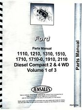 Ford 1110 1210 1310 1510 1710 1910 Tractor Parts Manual Catalog