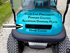 Club Car PRECEDENT golf cart Powder Coated Aluminum Diamond plate Name Cover