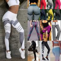 Women Push Up Yoga Leggings Fitness Pants Hip Butt Lift Workout Gym Trousers TS