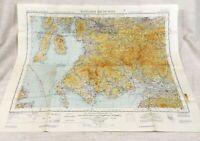 1952 Vintage Militare Mappa Di Scozia Prestwick Camicia Carlisle Raf Aeronautico