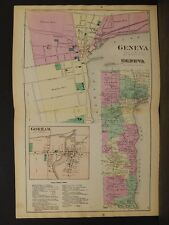 New York, Ontario County Map, 1874, Gorham Township, Double Page, Y3#77