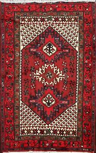 Hand-knotted Hamedan Tribal Geometric Area Rug Wool Oriental Foyer Carpet 3'x5'