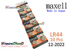 10pcs Maxell LR44 A76 AG13 D76A 1.5V cell coin button battery 2022 NEW