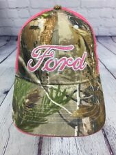 FORD Pink & Camo Ball Cap Hat Mesh Back Adjustable Size / Mom Women Dad