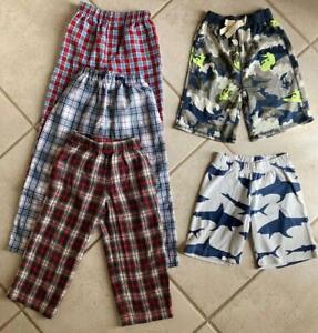 LOT 5 pc Boys/Girls GAP WES BODEN TUCKER sz 3/4 Sleep Pants Shorts PJ's Pajamas