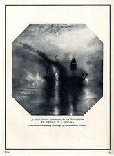 J.M.W.Turner Totenfeier für den Maler Wilkie bei Gibraltar Grafik-Print c.1929