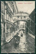 Venezia Città Ponte Sospiri Gondole cartolina XB5244