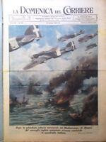 La Domenica del Corriere 23 Agosto 1942 WW2 Gandhi Russia Mediterraneo Officine