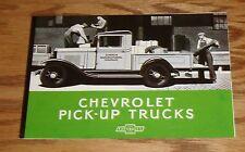 1931 Chevrolet Pick-Up Truck Foldout Sales Brochure 31 Chevy Pickup