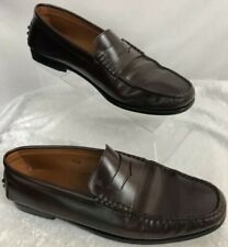 J.P. Tod's Womens Brown Penny Loafers Size 10.5M DRIVING SHOES