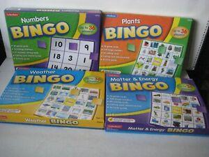 LAKESHORE EDUCATIONAL BINGO GAMES ~ LOT 4 ~ AGE 4 - 7 ~ NUMBERS, WEATHER...