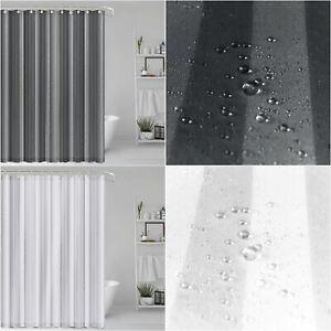 Extra Long Bathroom Bathtub Shower Curtain 180x200 cm Hotel Quality Vinyl Fabric
