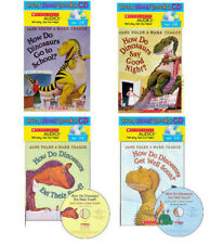 How Do Dinosaurs Go To School,Say Goodnight,Get Well,Eat Read Along Book & CD