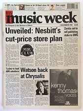 MUSIC WEEK MAGAZINE   7  DECEMBER 1991   GENESIS     LS