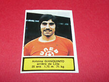 74 A. GIANQUINTO LILLE OSC LOSC AGEDUCATIFS FOOTBALL 1975-76 PANINI 75-1976