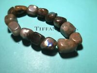 Genuine Labradorite Artisan Bracelet Natural Stone Beads Northern Light Aurora