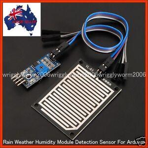 Arduino New Humidity Rain Weather Module Raindrops Detection Sensor - Brand New