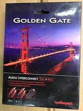 new AudioQuest Golden Gate RCA -2m Analog Interconnects, RCA Terminations