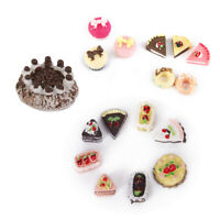 Kitchen Food Cakes Dollhouse Miniature 1/12 8pcs/Set