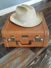 """Vintage Stetson """"The Open Road"""" 3xxx Beaver Hat With Presentation Travel Case"""