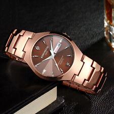 Stainless Steel Date Wristwatch Men Women Quartz Analog Digital Waterproof Watch