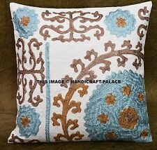 Traditional Home Decorative Bohemian Uzbek Suzani Embroidered Cushion Cover