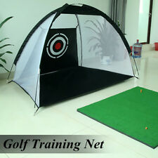Foldable Portable Golf Hitting Cage Practice Net Trainer Training Aid Mat Driver