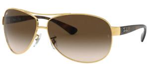 Ray-Ban Herren Sonnenbrille RB3386 001/13 67mm pilot gold braun